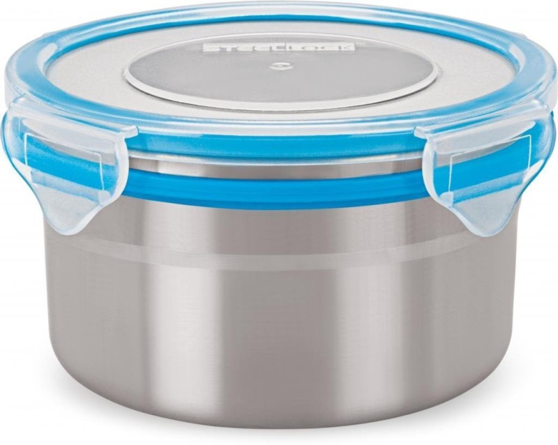 Steel Lock Stainless Steel Airtight Container SL-1302, 500ml, Set of 3 - 500 ml Steel Grocery Container(Pack of 3, Multicolor)