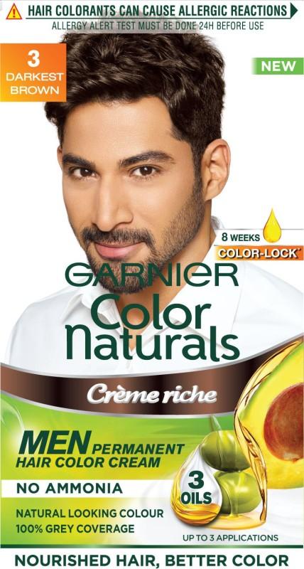 Garnier Men Color Naturals Hair Color(Darkest Brown 3)