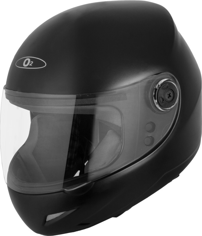Autofy O2 Full Face Helmet With Scratch Resistant Transparent Visor Motorbike Helmet(Black)