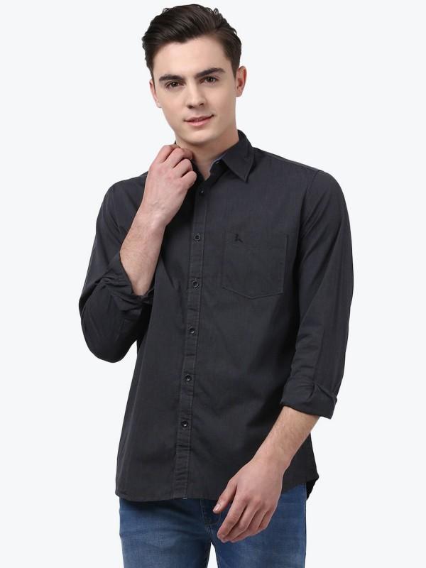 Parx Mens Solid Formal Shirt