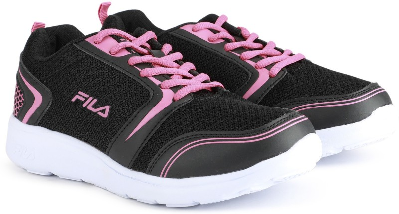 Fila NORA Running Shoes For Women(Black, Pink)
