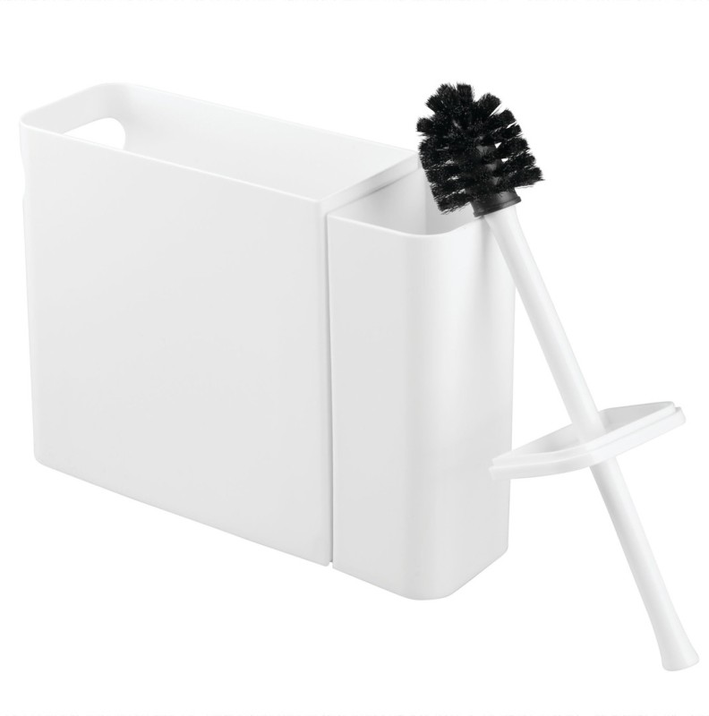 Interdesign Una Dustbin Dustbin / Toilet Brush Set Toilet Brush with Holder(White)