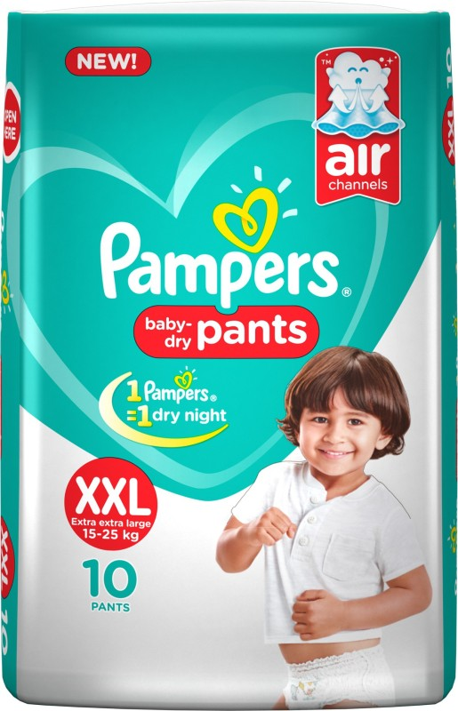 Pampers Pants Diapers New - XXL(10 Pieces)
