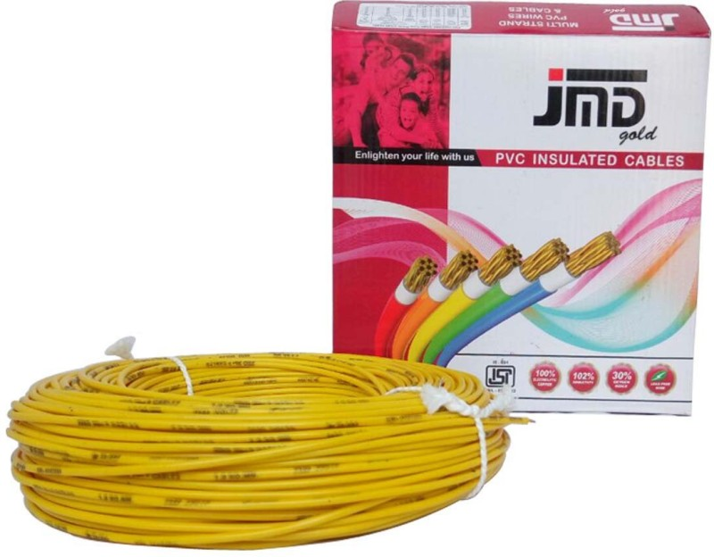 JMD GOLD FR, PVC 1.0 sq/mm Yellow 90 m Wire(Yellow)