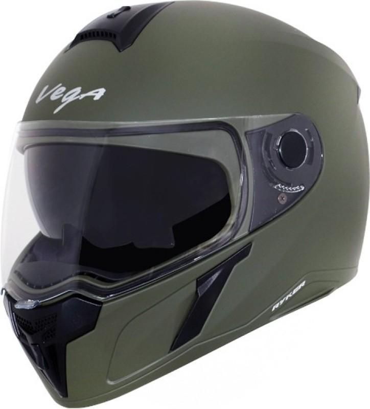 VEGA RYKER D/V DULL BATTLE GREEN Motorbike Helmet(DULL BATTLE GREEN)