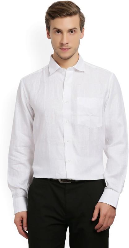 Van Heusen Men's Solid Formal White Shirt