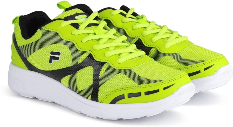 Fila FLOSSIE Running Shoes For Women(Black, Green)