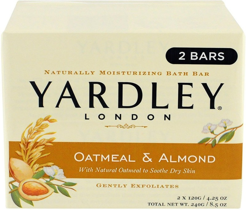 Yardley Oatmeal And Almond Bar Soap By , 2 Count(240 g, Pack of 2)