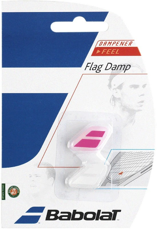 Babolat FLAG DAMP X 2* Tennis Dampener (white pink)(White, Pink, Pack of 2)