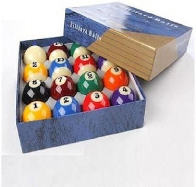 Laxmi Ganesh Billiard XIN KANG POOL BALL SET Billiard Ball(Pack of 16, Red, Purple, White, Blue, Green, Yellow, Black, Orange)