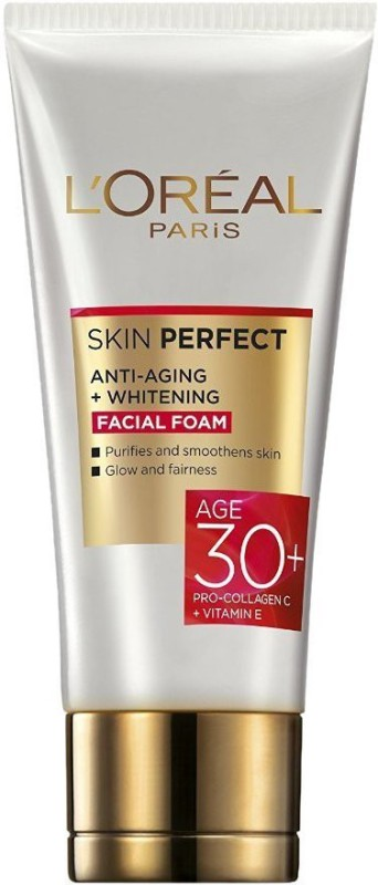 LOreal Paris Skin Perfect Anti Ageing + Whitening Facial Foam 50g Face Wash(50 g)