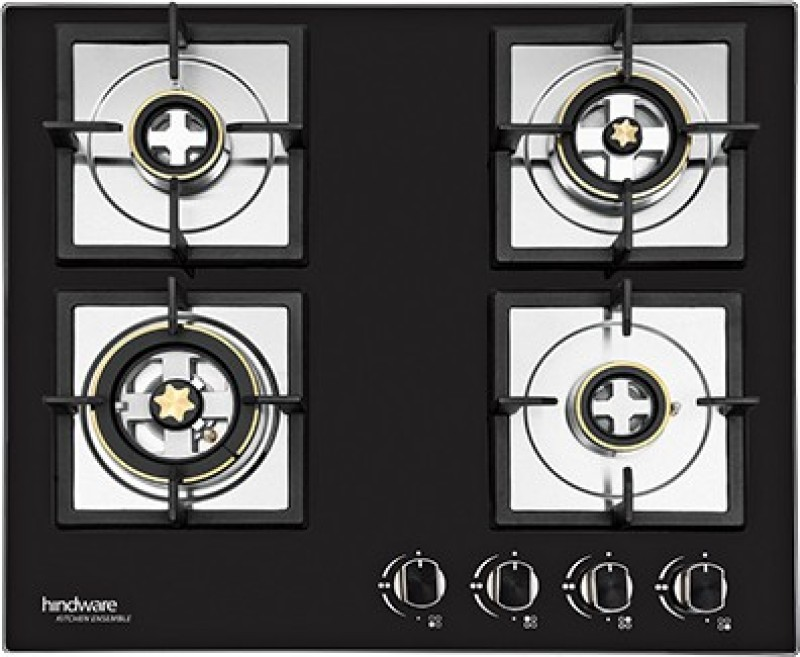 Hindware Flora Stainless Steel Automatic Gas Stove(4 Burners)