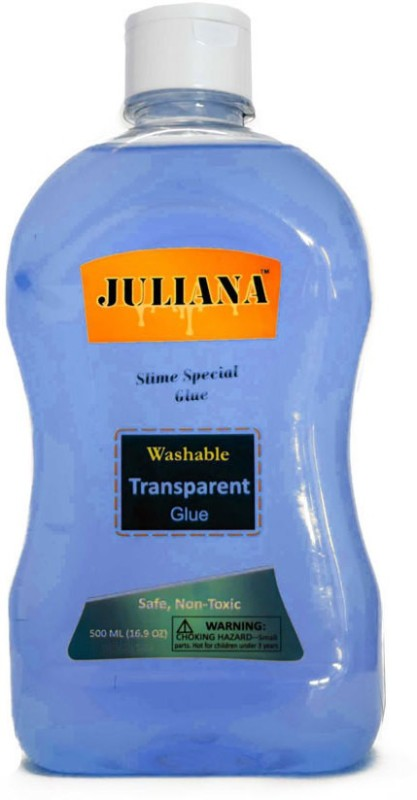 Juliana Transparent Blue Colour School glue 8.45 OZ or 250 ml (Slime special) Glue(500 ml)