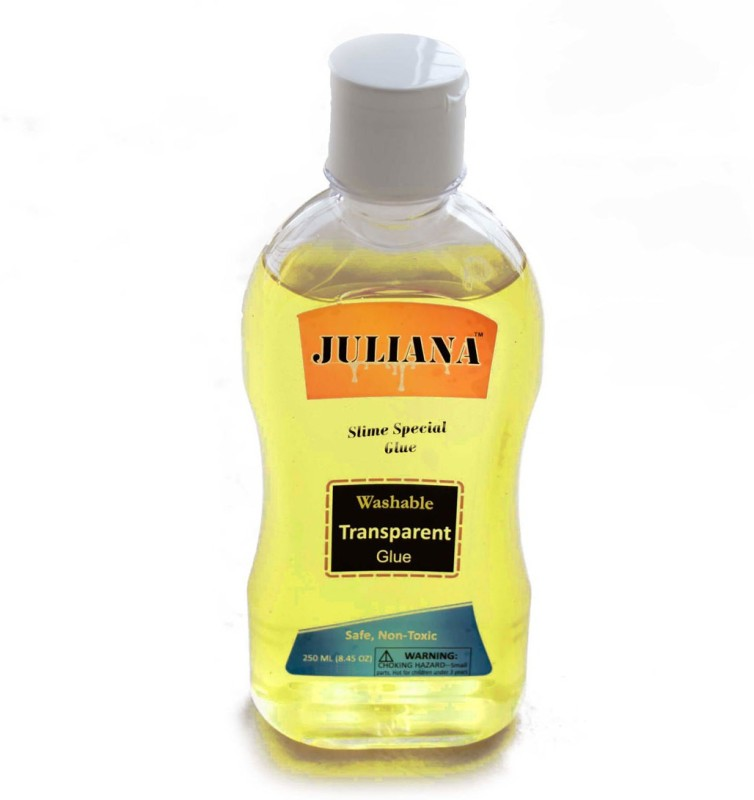 Juliana Transparent Yellow Colour School glue 8.45 OZ or 250 ml (Slime special) Glue(250 ml)