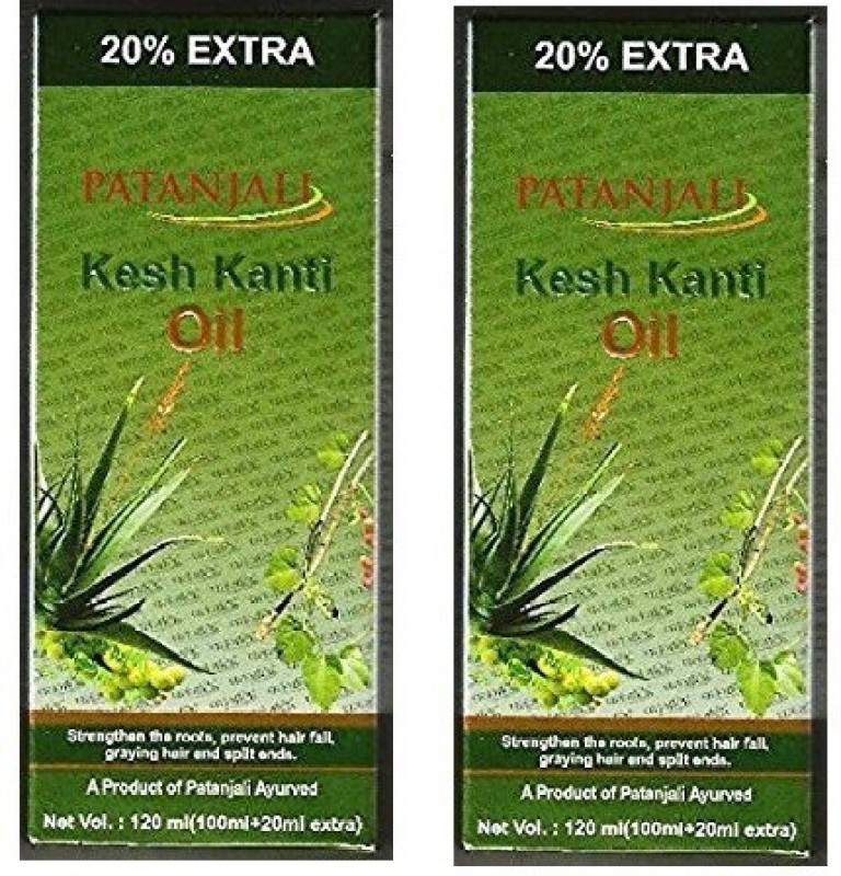Patanjali Kesh Kanti Ayurvedic Oil 100ml with 20ml extra Hair Oil(240 ml)