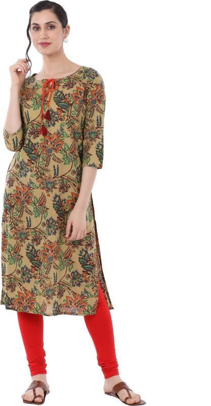 Gulmohar Jaipur Women's Printed Straight Kurta(Multicolor)