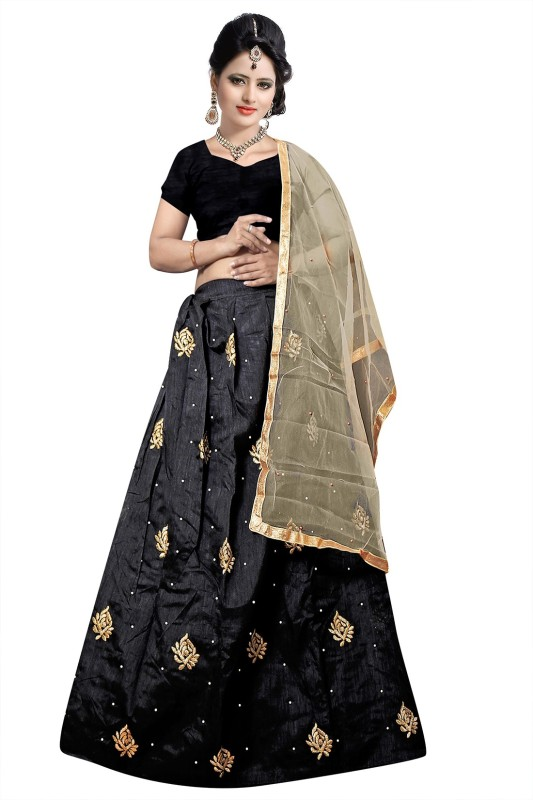Florence Embroidered Lehenga Choli(Black)
