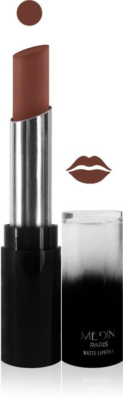 Medin paris matte long lasting moisturizing lipstick cosmetics makeup collection set of 1 color(l brown, 5 g)