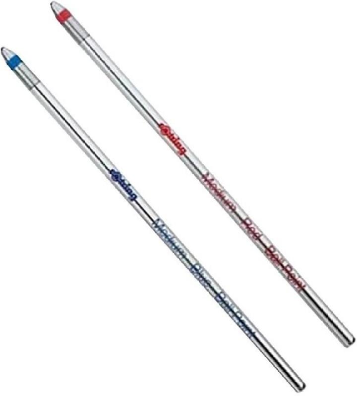 rotring D1 Refills for Multi Pens - Blue Refill & Red Refill(Pack of 2)
