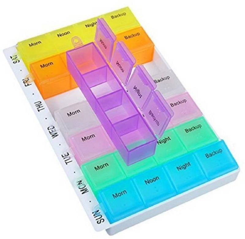 Generic 7-Day GLOBAL 7-day Pill Box (Multicolor) Pill Box(Multicolor)