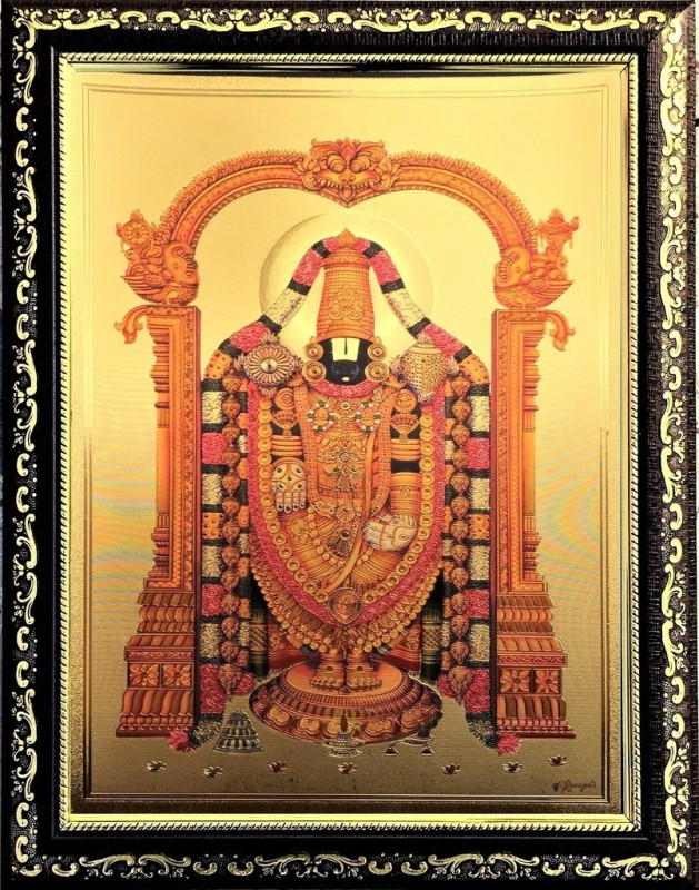 ADA Handicraft Lord Kuber God Photo for Pooja | Hindu Bhagwan Devi Devta Photo | God Photo Frames | Wall Décor Photo Frame | Photo Frame - Dark Brown Religious Frame