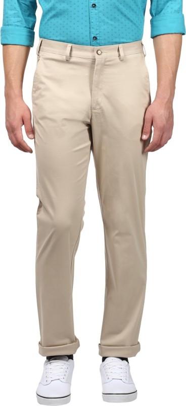Park Avenue Slim Fit Men Beige Trousers