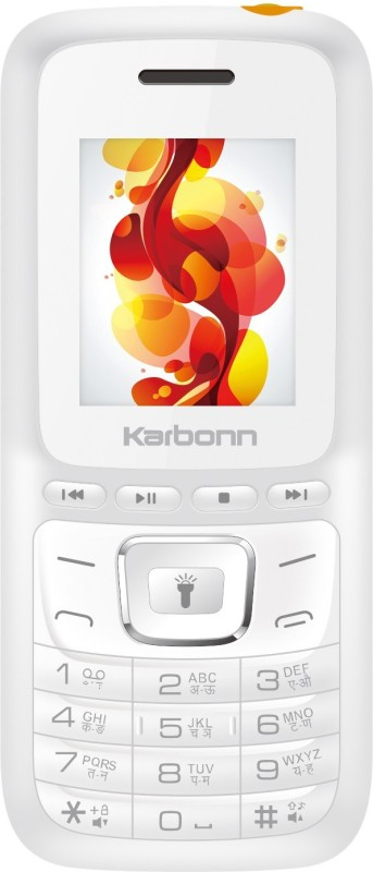 Karbonn K7 Power(White & Orange)