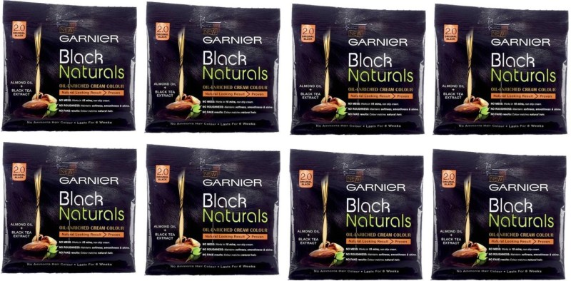 Garnier Black Naturals Oil-Enriched Cream Hair Color(2.0 Original Black)