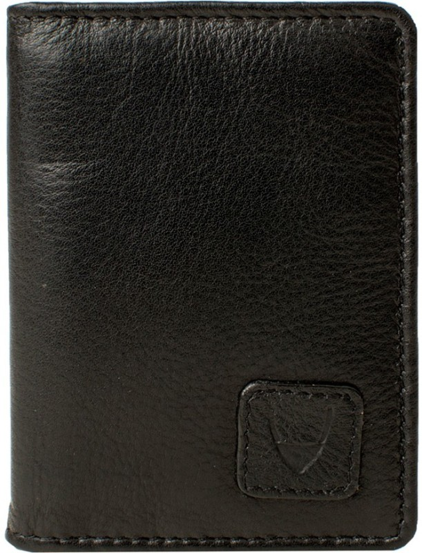 Hidesign Men Black Genuine Leather Wallet(6 Card Slots)