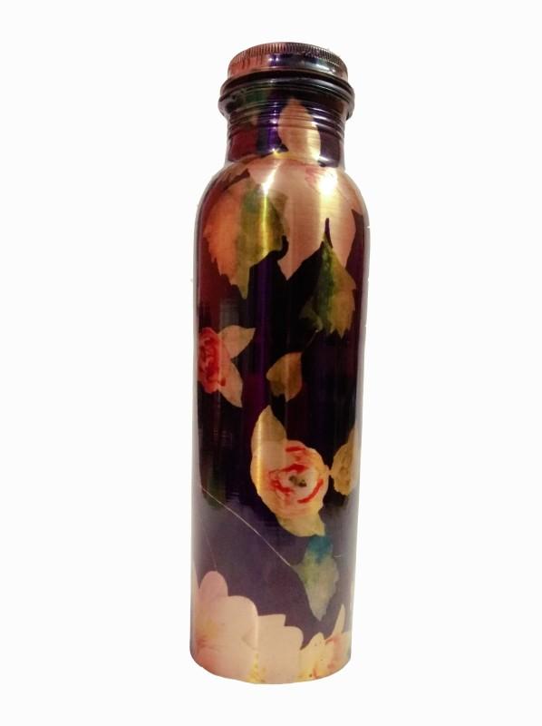 2Cents Digital Printed Bottle Copper Leak Proof Water Bottle For Good Health Benefits 1000 ml Bottle (Pack of 1, Multicolor) 1000 ml Bottle(Pack of 1, Multicolor)