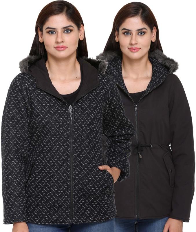 Trufit Full Sleeve Solid Women Reversible Jacket