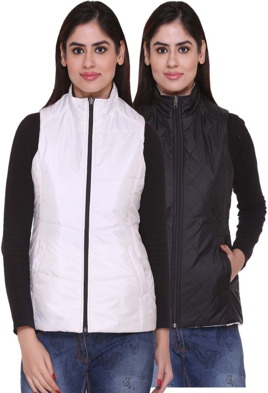 Trufit Sleeveless Solid Women Reversible Jacket
