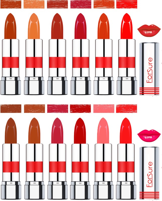 Forsure Matte Lipsticks(Brown,Nude,Light Brown,Megenta,Urban Brown,Tangy Orange,Chocolate Brown,Turkish Nude,Coral,Spicy Red,Baby Pink,Red, 48 g)