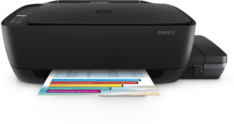 HP DeskJet Ink Tank GT 5821 Multi-function Wireless Color Printer(Black, Refillable Ink Tank)