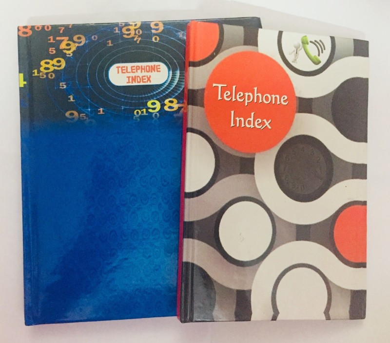INDOGIFTS Pack of 2 Telephone Index Dairies Big Size 16 x 20cm 180Pages and Small Size 12 19cm -100 Pages Hardcover Address Book