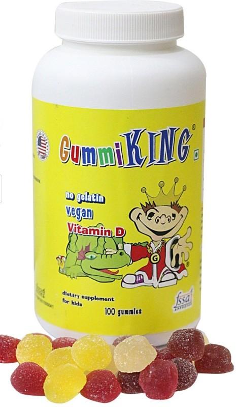 Gummi King Gummi King Vitamin D -100 Gummies Fruity Flavored Gummies(250 g)