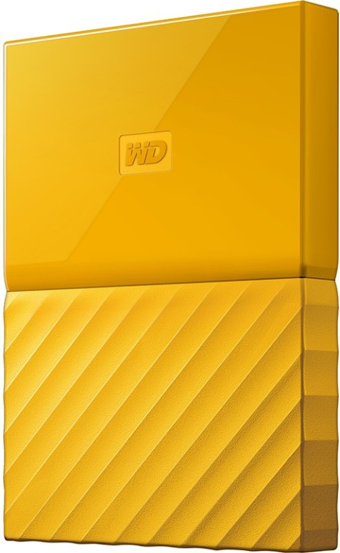 WD My Passport 2 TB Wired External Hard Disk Drive(Yellow)