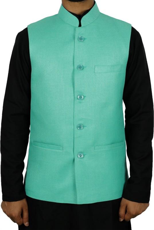 La Rainbow Sleeveless Solid Mens Jacket