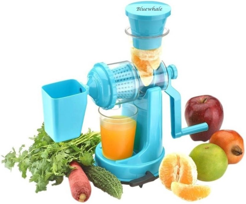 Bluewhale Fruit & Vegetable Juicer with Waste Collector SkyBlue Plastic Hand Juicer(Blue Pack of 1)