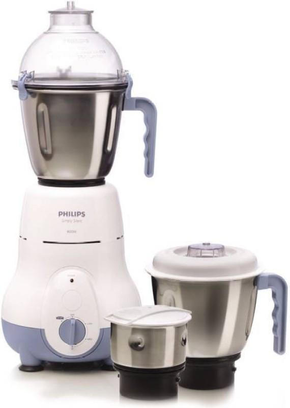 Philips HL1643 600 Mixer Grinder(Blue,White, 3 Jars)