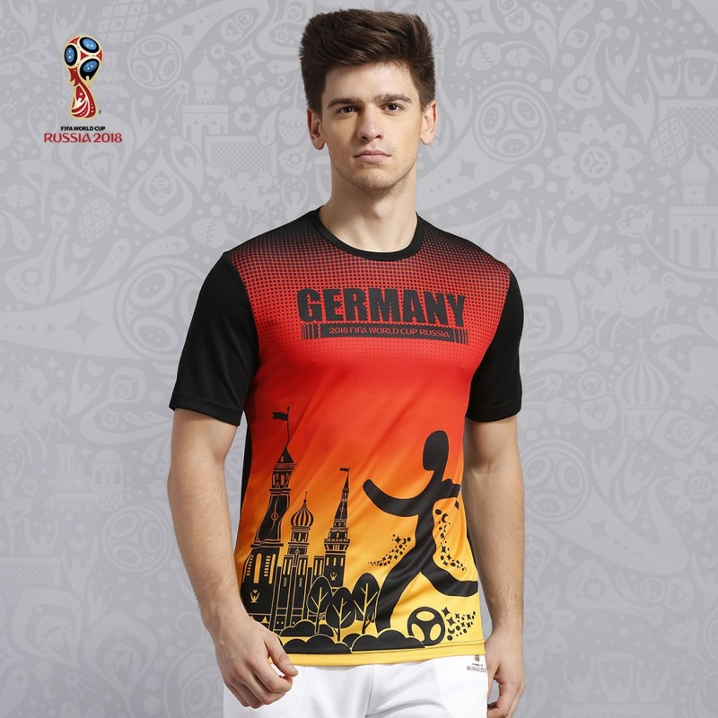 FIFA GERMANY Graphic Print Men's Round Neck Multicolor T-Shirt