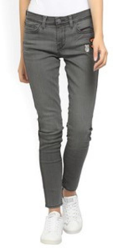 Levis Skinny Womens Grey Jeans