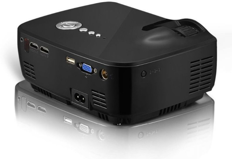 Ecofast Portable Projector for Home, Office, School, Presenation, Bussiness Portable Projector(Black)