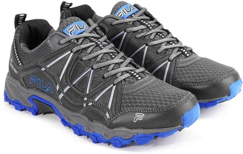 Fila AT PEAKE 17 Running Shoes For Men(Black, Blue)