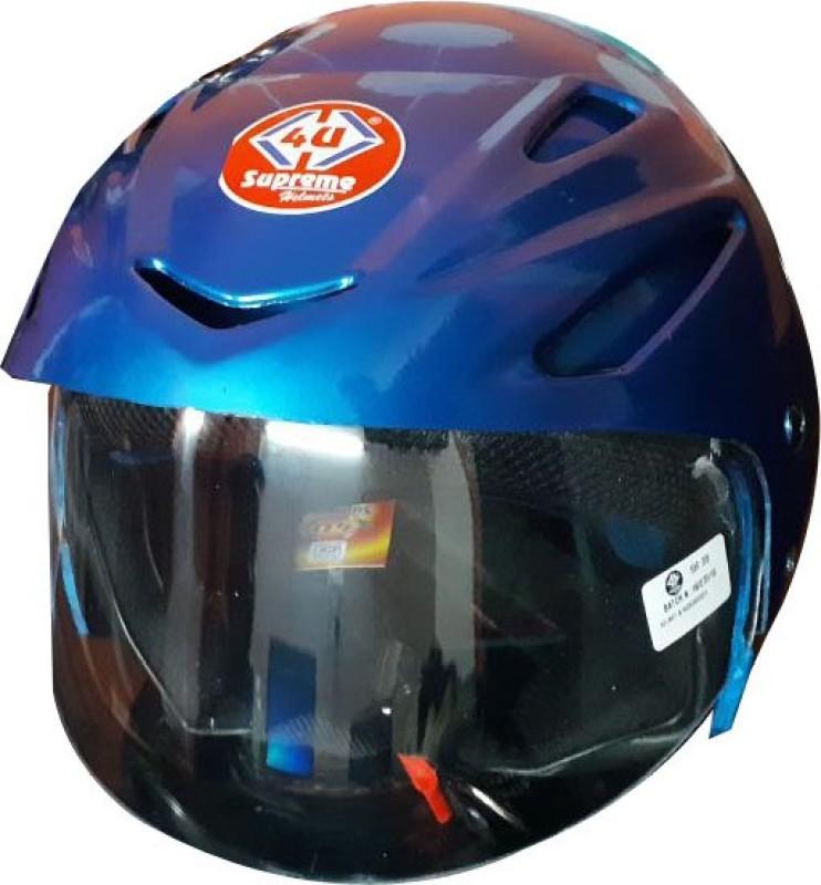 4U SUPREME Q-7 GOLD Motorbike Helmet(Blue)