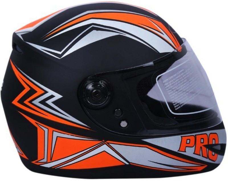 AutoVHPR O2 Black with Orange Lightning Design ISI Certified Helmet Motorbike Helmet(Black, Orange)