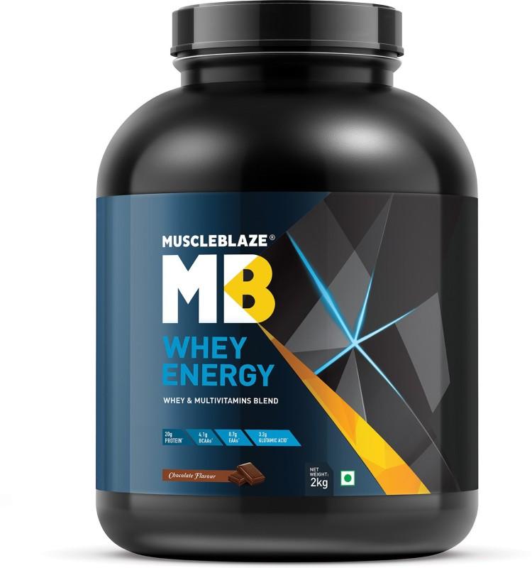 MuscleBlaze Whey Energy with DigeZyme Whey Protein(2 kg, Chocolate)