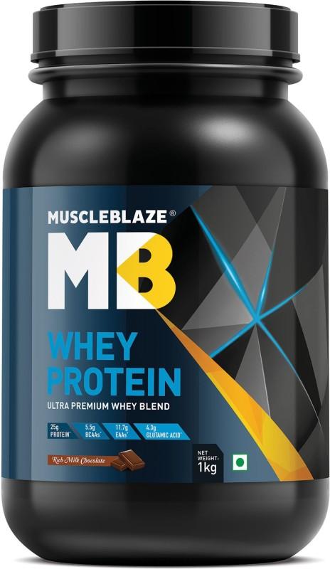 MuscleBlaze 100% Ultra Premium Whey Protein(1 kg, Rich Milk Chocolate)