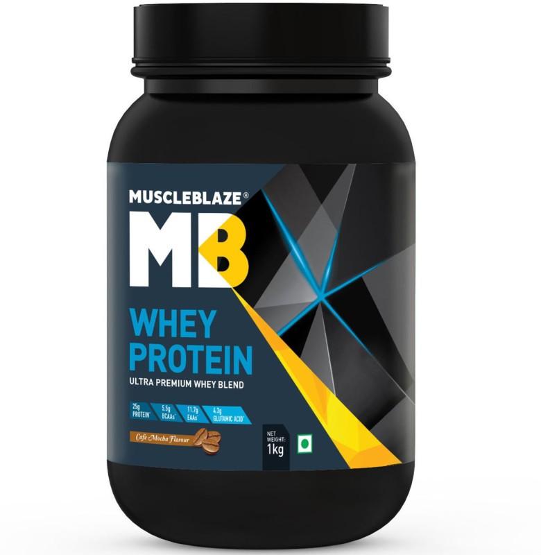 MuscleBlaze 100% Ultra Premium Whey Protein(1 kg, Cafe Mocha)