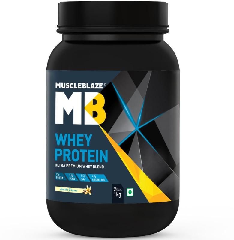 MuscleBlaze 100% Ultra Premium Whey Protein(1 kg, Vanilla)
